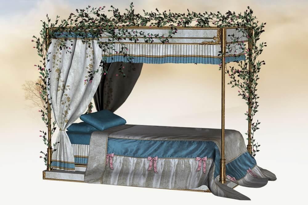 眠れる森の美女のベッド