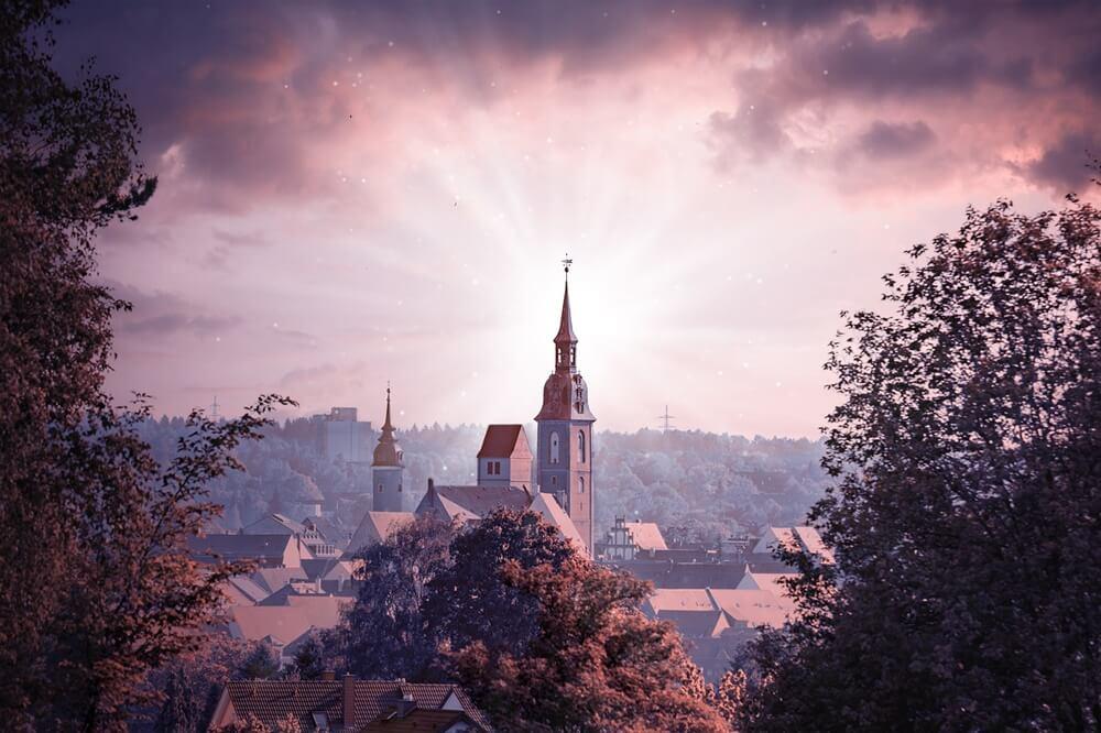中世ふうの街並み