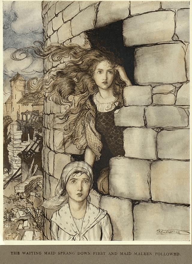 maid maleen by Arthur Rackham